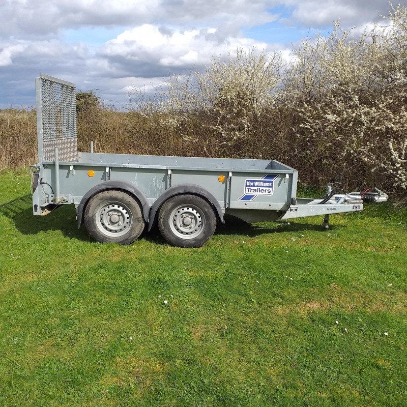 Ifor Williams GD84 Tandem Axle Plant Trailer